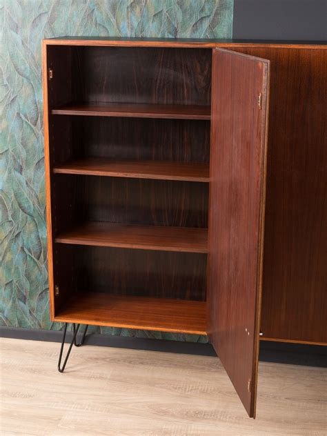 vintage shoe cabinet  rosewood  steel  design