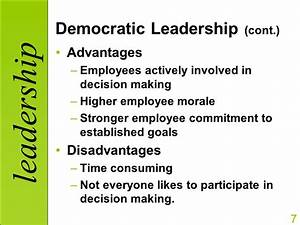 The gallery for --> Democratic Leadership Style