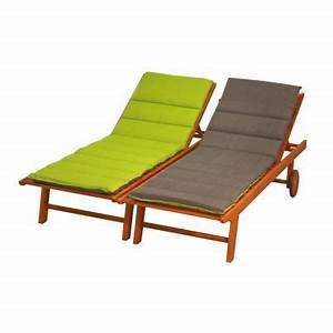 Coussin De Bain De Soleil : coussin bain de soleil futon vert et gris castorama ~ Teatrodelosmanantiales.com Idées de Décoration