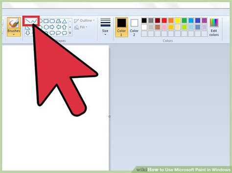 how to use microsoft paint in windows with pictures