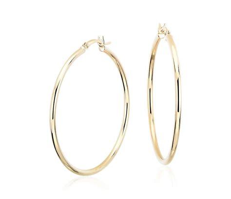 "Large Hoop Earrings In 14k Yellow Gold (1 58"")  Blue Nile. Natural Opal Earrings. Gold Plated Bracelet. Pinterest Rings. Red Garnet Bracelet. Palm Tree Necklace. Four Stone Engagement Rings. Infinity Stud Earrings. War Watches"