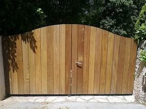 Portail En Bois : portail bois et fer faufer ~ Premium-room.com Idées de Décoration