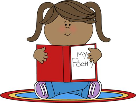 Poetry Clip Poetry Reading Clipart