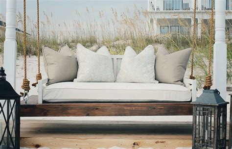 how to build a porch swing bed porch swing bed ideas