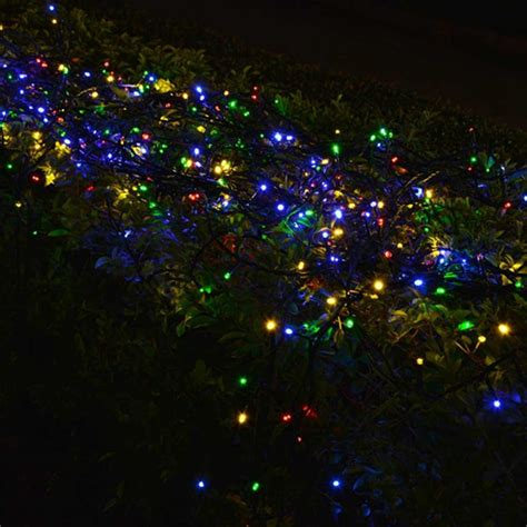 solar string 10m 50 led powered xmas garland fairy cing