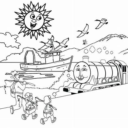 Scenery Coloring Pages Fall Printable Winter Getcolorings