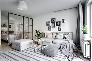 Separation Salon Chambre : s parer le coin chambre dans un studio avec une verri re ~ Zukunftsfamilie.com Idées de Décoration