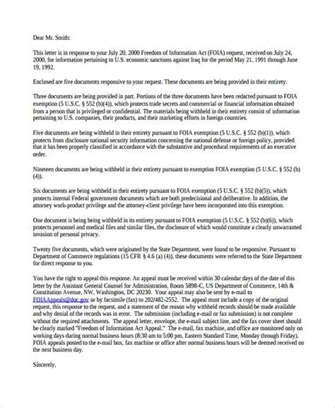 sample response letter   documents