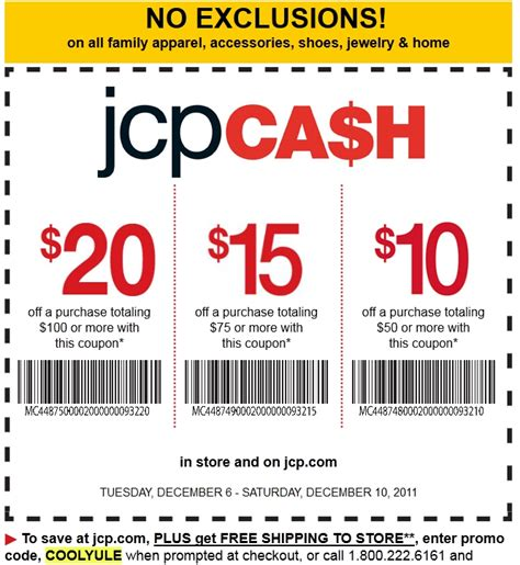85338 Jcpenney Free Shipping No Minimum Promo Code by Jcpenney November Copon Deals Printable Coupons