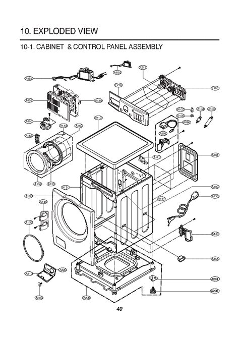lg wd  exploded view service manual