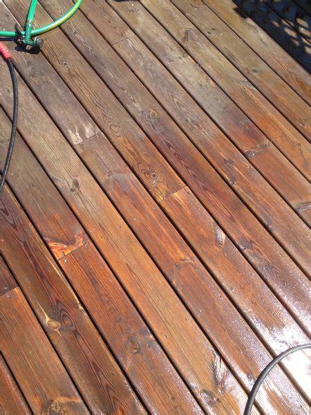 stain  deck    installed