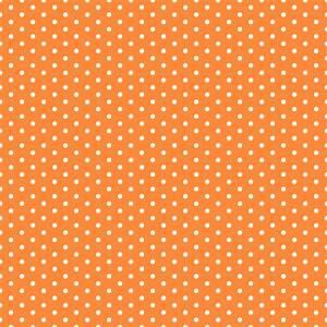 Orange and White Polka Dots - Background Labs