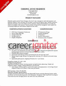 project management resume sample sample resumes With resumes for project managers template