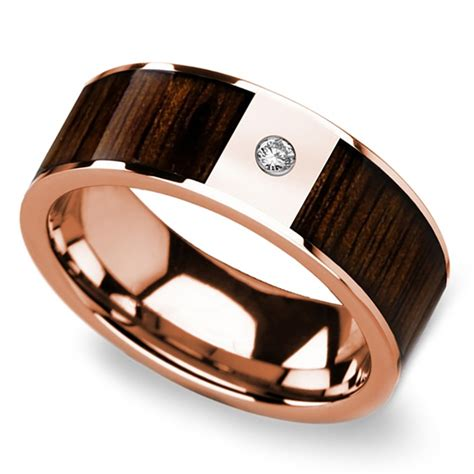 black walnut inlay s wedding ring with in gold