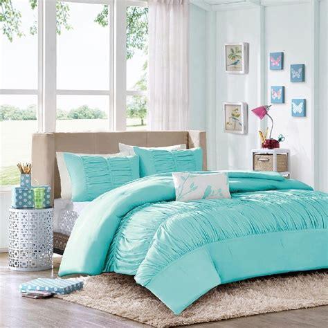 details  comforter sets  teen girls tiffany blue