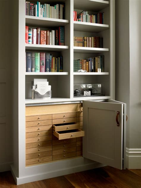 study  bookcases  wall paneling traditional