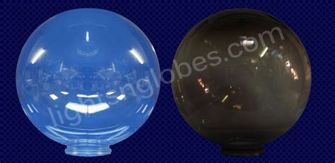12 quot acrylic clear smoke globe light outdoor lighting