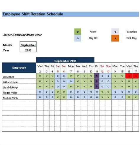 Revised paramedic schedule part 1. Rotating/Rotation Shift Schedule Template     M A N O X B ...