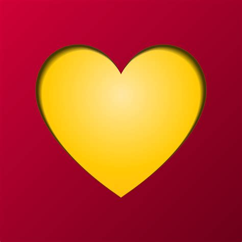 happy valentines day greeting card vector yellow heart