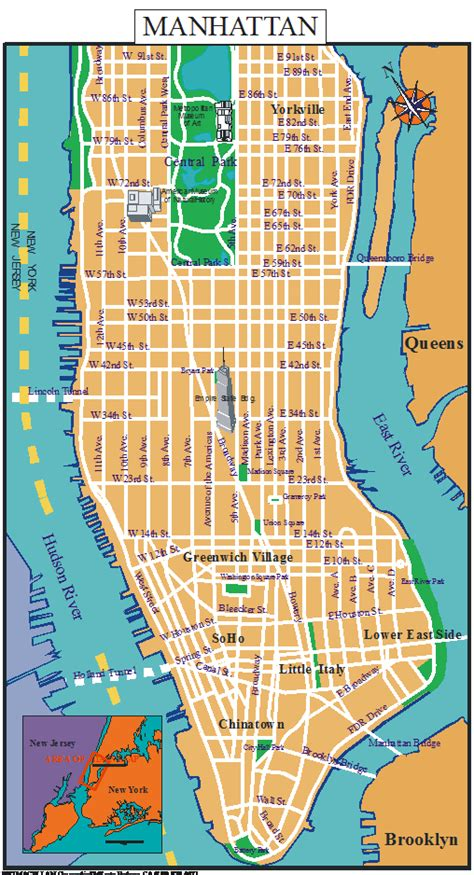 manhattan map  afp cv