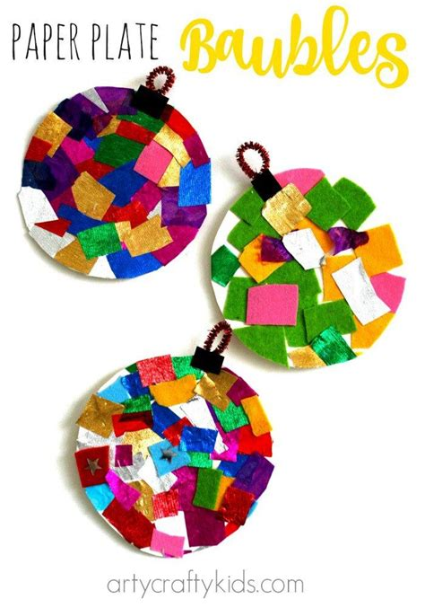 paper plate baubles crafty kids craft and activities