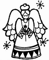 Christmas Coloring Angel Pages Printable Sheet Print God Printables Activity sketch template
