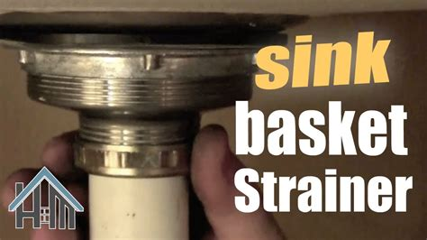 how to replace a kitchen sink basket strainer how to replace basket strainer kitchen sink drain easy 9832