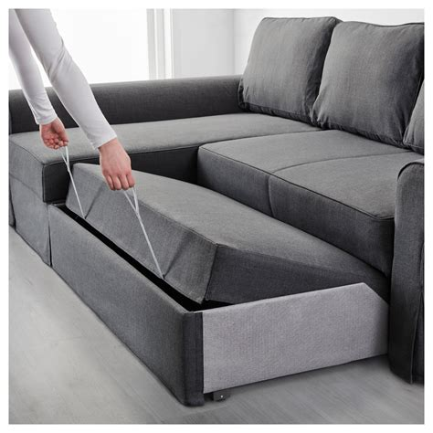 dark gray sofa bed backabro sofa bed with chaise longue nordvalla dark grey