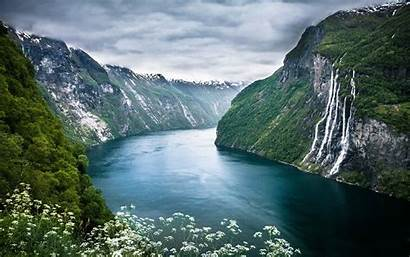 Scenery Norway Fjord Wallpapers Landscape Geiranger Fjords