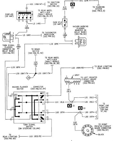 1990 Dodge W250 Wiring Diagram by I A 92 Dodge W 250 4 Way Work Brake Lights