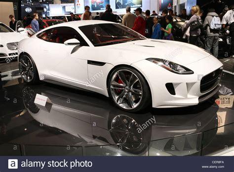 White Expensive Luxury Sports Car Jaguar Cx16 Stock Photo