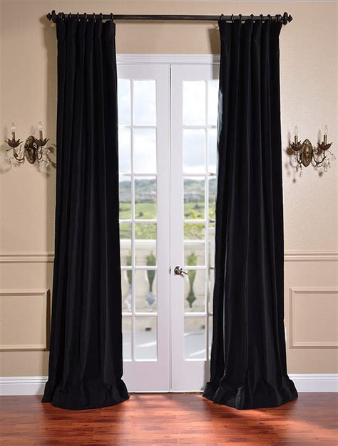 black vintage cotton velvet curtains drapes ebay