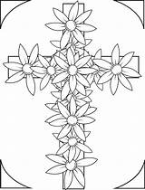 Coloring Cross Pages Flowers Crosses Adults Printable Flower Easter Bible Adult Cruz Dia Sheets Religious Colouring Christian Grown Ups Books sketch template