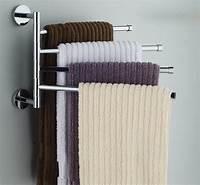 bathroom towel holder Towel Bars Wall Mounted: Single, Multiple and Swing