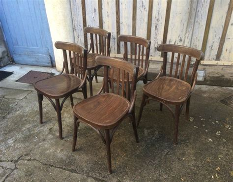 chaise bistrot thonet lot 60 chaises bistrot type baumann thonet