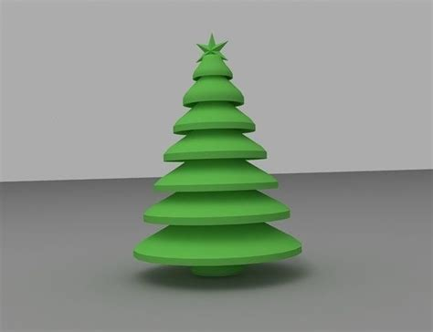 print model christmas tree xmas cgtrader
