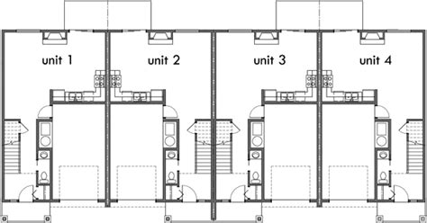 fourplex house plans  bedroom fourplex plans  story