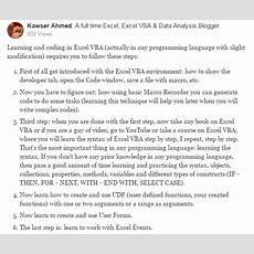 Learn Excel Vba Programming & Macros (free Tutorial & Download Pdf