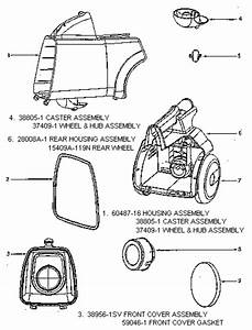 Eureka 3672a Mighty Mite Vacuum Diagram