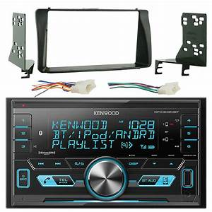 Kenwood Dpx303mbt Double Din Cd Mp3 Player Stereo Receiver Bundle Combo With Metra 2