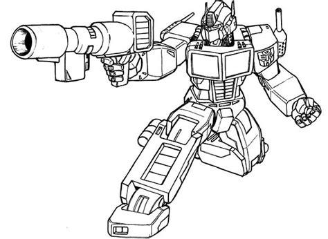 disegni da colorare nerf optimus prime bazooka of transformers coloring page