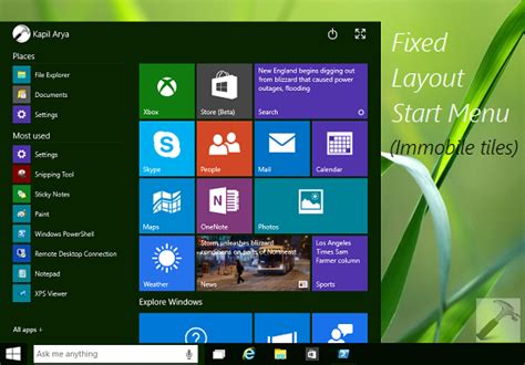 [how To] Specify Fixed Layout Start Menu In Windows 10