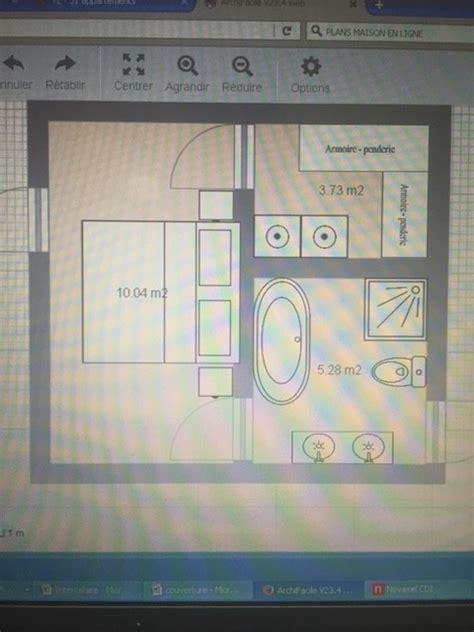 plan de dressing chambre optimisation chambre salle de bain dressing