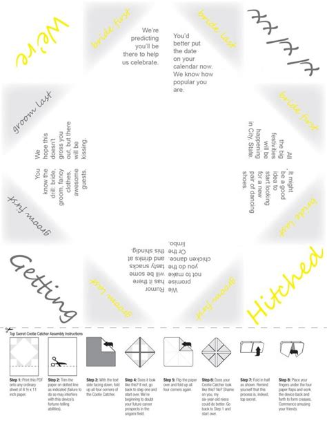 save  date cootie catcher save  date paper fortune