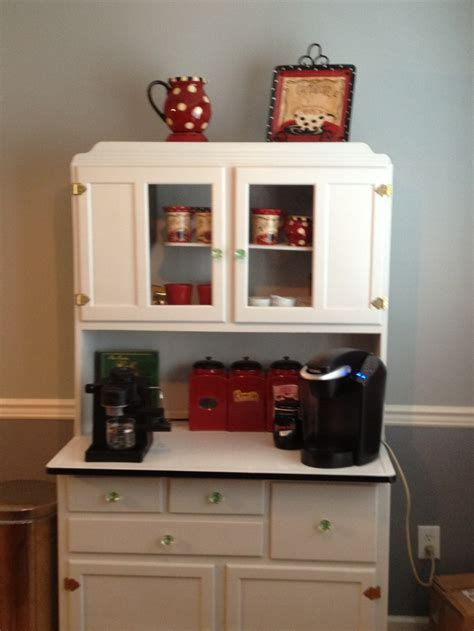 coffee cabinets for kitchen coffee bar in a hoosier cupboard cafe pinterest the