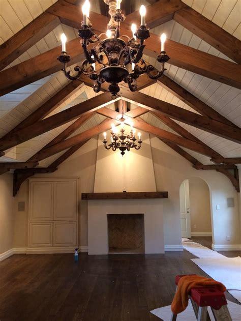 scissor truss beam ceilings   pinterest
