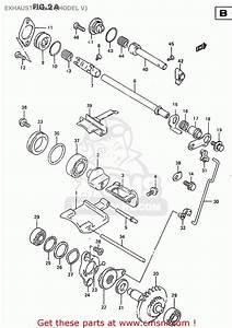 Suzuki Rm250 1997  V   E02 E04 E24  Exhaust Valve  Model V