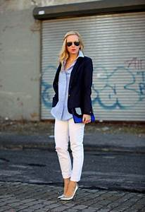 Picture Of With white pants button down shirt and jacket