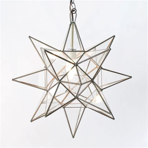 Moravian Star Light by Moravian Star 20 Quot Pendant Chandelier Extra Large Clear