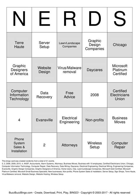 Abstract Technology Group Bingo Cards to Download, Print